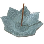 Incense Burner - Mini Water Lily Soapstone Incense Plate