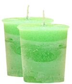 Mint Crystal Journey Traditional Votive Candle - 2 Candles