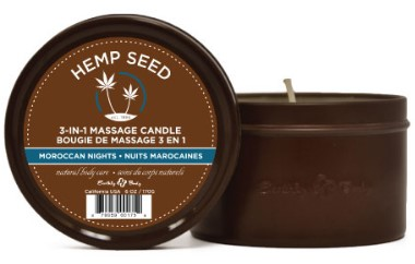 Earthly Body 3-in-1 Suntouched Massage Oil Candle - Moroccan Nights (Earthy/Spicy-Sensual)