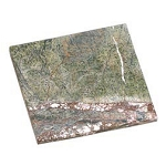 Candle Plate - Square Marbled Soapstone Candle Plate