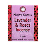 Native Scents Incense - Lavender & Roses Incense