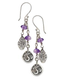 Om Amethyst Earrings - Tibet Collection Jewlery