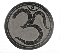 Om Black Stone Round Incense Burner