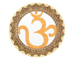 Om Wood Mirror - Radiant Orange