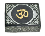 Beautiful OM Symbol Soapstone Box 4