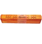 Wooden Orange Incense Burner w/Cinnamon Incense Sticks & Incense Cones