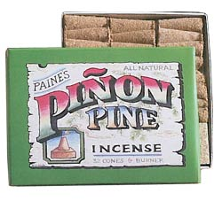 Paine's Pi�on Pine Incense Cones - 32 w/holder