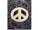 Peace Tapestry - Brown Peace Sign Splatter Tapestry
