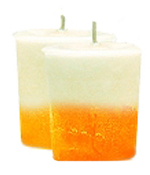 Peach French Vanilla Crystal Journey Traditional Votive Candle - 2 Candles