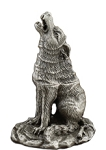 Cone Incense Burner - Pewter Wolf