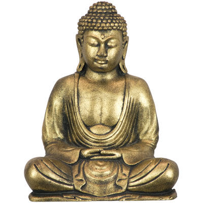 Statue Polyresin Meditating Buddha Golden
