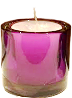 Votive Holder - Purple Glass