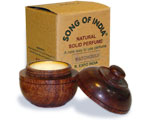 Song of India Solid Perfume in Rosewood Jar - Patchouli