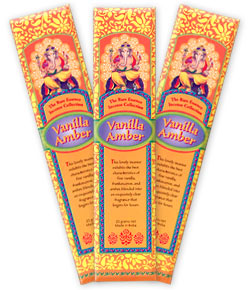 The Rare Essence Incense Collection - Vanilla Amber Incense