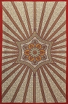 Red Flowing Star Tapestry