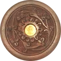 Round Wooden Stick & Cone Incense Burner 4''
