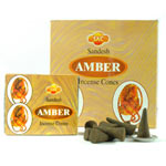 Sandesh (SAC) Cone Incense - Amber