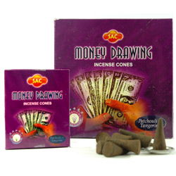 Sandesh (SAC) Cone Incense - Money Drawing