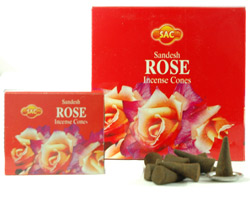 Sandesh (SAC) Cone Incense - Rose