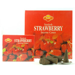 Sandesh (SAC) Cone Incense - Strawberry