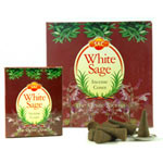 Sandesh (SAC) Cone Incense - White Sage