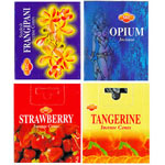 Sandesh (SAC) Indian Cone Incense Sampler #6 - Frangipani, Opium, Strawberry, Tangerine