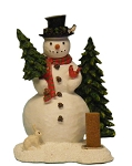 Cone Incense Burner - Snowman