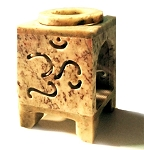 Oil Burner - Soapstone Oil Burner Square Om