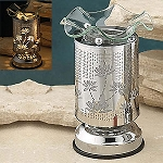 Electric Oil Burner - Stainless Pattern Wrap, Lotus