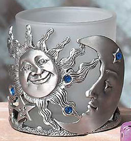 Candle Holder - Sun and Moon Candle Holder