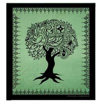 Green Tree Of Life Tapestry