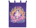 White Tara Silk Wall Hanging