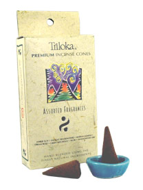 Triloka Incense Cones - Assorted Fragrances Incense Cones
