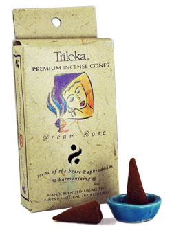 Triloka Incense Cones - Dream Rose