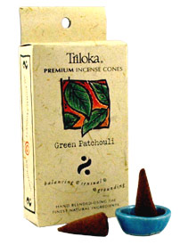 Triloka Incense Cones - Green Patchouli