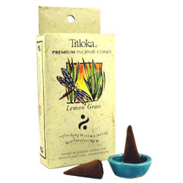 Triloka Incense Cones - Lemongrass