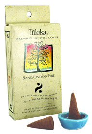 Triloka Incense Cones - Sandalwood Fire