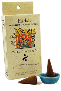 Triloka Incense Cones - Tangerine Scream