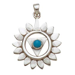 Sterling Silver Chakra Pendant - Throat