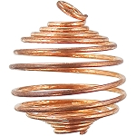Tumbled Stone Cage Empty Copper