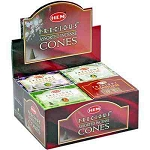 HEM PRECIOUS ASSORTED CONES - 10 CONES PACK (12/BOX)