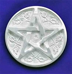 Pentacle Silver Plated Alter Tile  <BR><BR>