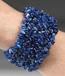 Blue Kyanite Nugget Cuff Bracelet