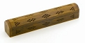 Incense Burner - Wood Incense Box Burner - Plain Carved 12''