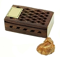 Amber Resin in Wood Box - Patchouli Amber Resin