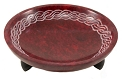 Soapstone Resin Bowl Burner - Red