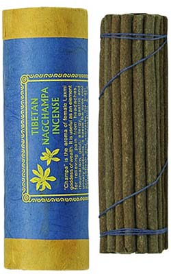 "Tibetan Nag Champa Incense - 30 Sticks - 4.5"" Long"