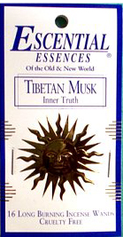Escential Essences Incense - Tibetan Musk