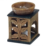 Oil Burner - Soapstone Two Tone Vine