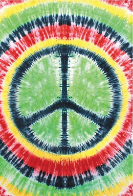 Peace Sign Tie-Dyed Tapestry